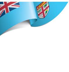 Fiji flag on a white vector