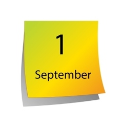 First of September vector image