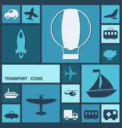 Flat concept set modern design transportation vector