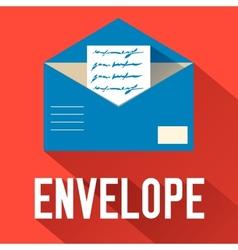 Flat open envelope design concept vector
