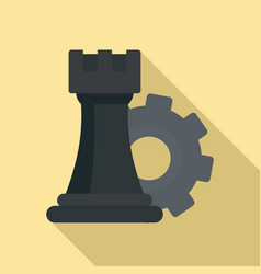 gear logic icon flat style vector image