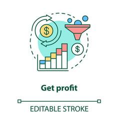 Get profit concept icon increase earnings idea vector