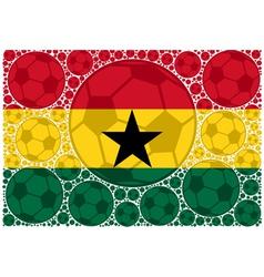 Ghana soccer balls vector image
