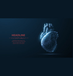 Heart abstract 3d human isolated vector