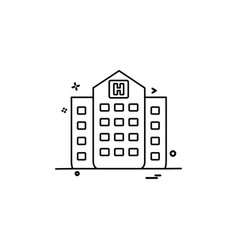 hospital building medical icon design vector image