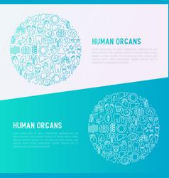 human internal organs concept in circle vector image
