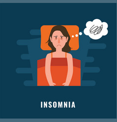 Insomnia sleeping disorder vector