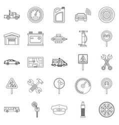 Instrument icons set outline style vector