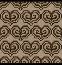 Knitted seamless decorative pattern vector