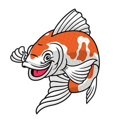 koi fish cartoon character vector image
