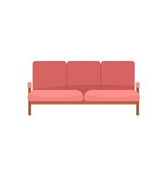 Ledger sofa icon flat style vector