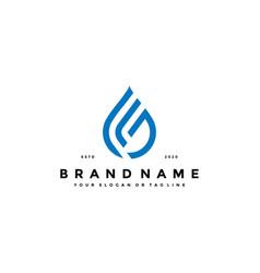 Letter j water drop logo design vector