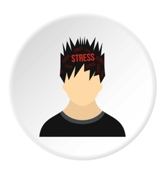 Male avatar and stress icon flat style vector image