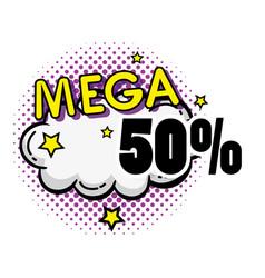mega sale pop art poster vector image