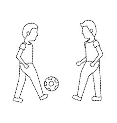 men playing soccer or football icon image vector image