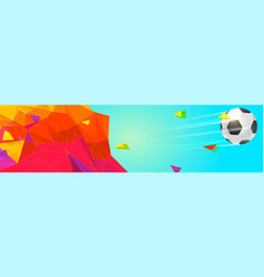 modern sport banner for football tournament vector image