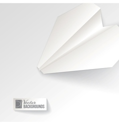Paper airplane origami vector image