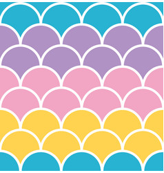 Pastel scale seamless pattern with white outline vector