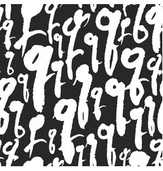 Pattern with calligraphy letters q vector