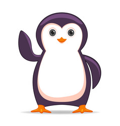 penguin animal standing on a white background vector image