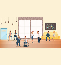 People at shared coworking space creative office vector