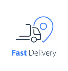 Quick ruck delivery concept distribution services vector