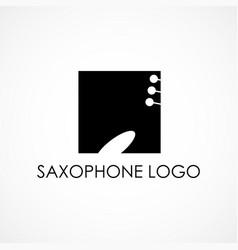 saxophone logo vector image