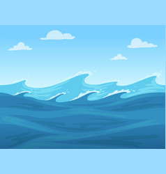 sea seamless game blue liquid surface ocean or vector image