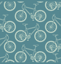 seamless pattern with racing bikes vector image