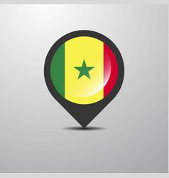 Senegal map pin vector