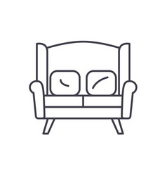 sofa for two line icon concept sofa for two vector image