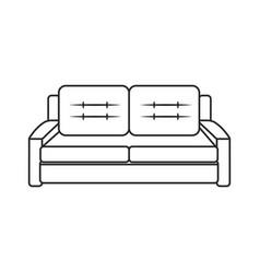 sofa furniture comfort image outline vector image