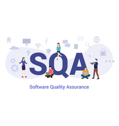 Sqa software quality assurance concept with big vector