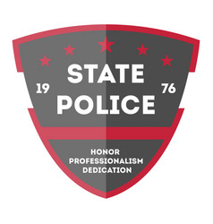 state police badge icon vector image