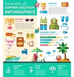 Summer Vacation Infographics - poster brochure vector