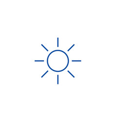 Sun sign line icon concept sun sign flat vector