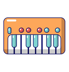 synthesizer piano icon cartoon style vector image
