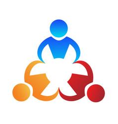 teamwork people working business logo vector image