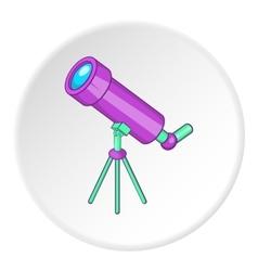 Telescope icon cartoon style vector