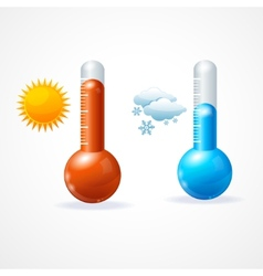Thermometr icon set vector