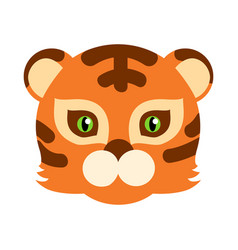 Tiger cat carnival mask striped orange brown beast vector