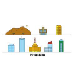 united states phoenix flat landmarks vector image