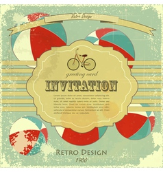 vintage circus placard vector image