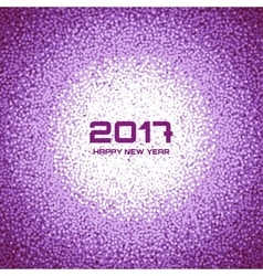 Violet New Year Circle Frame Cristmas Background vector
