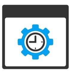 Clock configuration gear calendar page vector