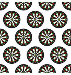 dartboard seamless pattern vector image