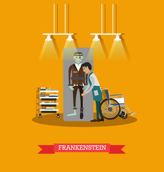 Frankenstein movie concept in vector
