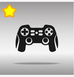 joystick black icon button logo symbol vector image vector image