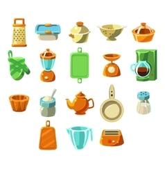 Kitchen appliences set vector