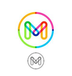m logo transparent elements vector image vector image